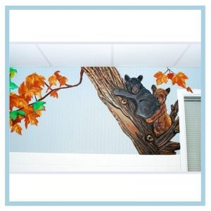 healthcare-design-bears-on-tree-wall-art-hospital-wall-art