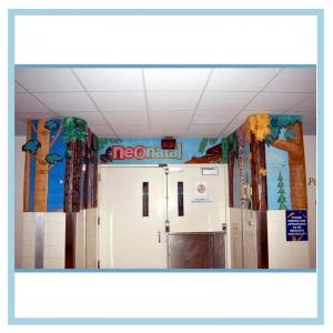 neonatal entranceway-3d-trees-hospital-design-healthcare-art