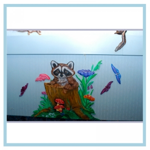 raccoon-3d-wall-art-healthcare-design-custom-project