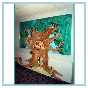 treehouse-donation-wall-3d-art-hospital-design-healthcare-art