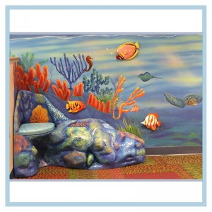 3d-fish-murals-clinic-art-underwater-theme-healthcare-design-underwater-theme-orcas-rainbow-childrens-playroom-coral-bench-close-up
