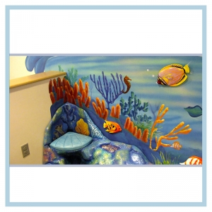 3d-fish-murals-clinic-art-underwater-theme-healthcare-design-underwater-theme-orcas-rainbow-childrens-playroom-coral-seat