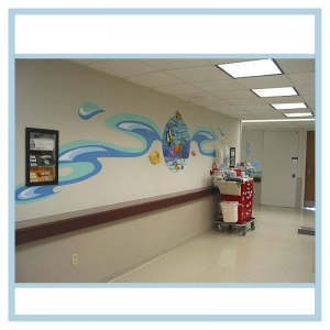 waves-down-hallway-murals-healthcare-design-hospital-art-3d-fish