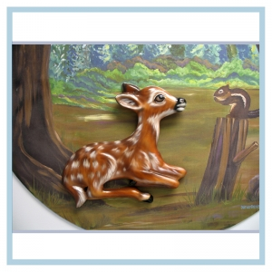 3d-mural-forest-theme-hospital-murals-healthcare-art-blue-jay-design-baby-fawn-chipmunk