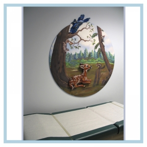 3d-mural-forest-theme-hospital-murals-healthcare-art-blue-jay-design