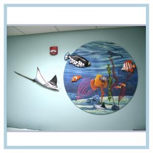 3d-mural-terns-flying-over-ocean-mural-hospital-art-healthcare-design-tropical-fish-stingray-close-up