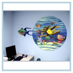 3d-mural-terns-flying-over-ocean-mural-hospital-art-healthcare-design-tropical-fish