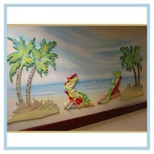 3d-palm-trees-lizards-on-beach-healthcare-design-art-for-hospitals-beach-theme-tropical