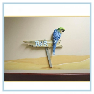 hospital-art-healthcare-design-parrot-tropical-beach-theme-r&r-sign