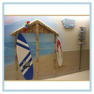 surfboards-tiki-hut-signage-healthcare-art-hospital-design