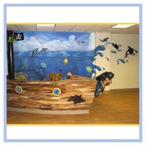 pirate-ship-nautical-theme-pediatric-waiting-room-orca-whales-3d-fish-hospital-art-healthcare-design