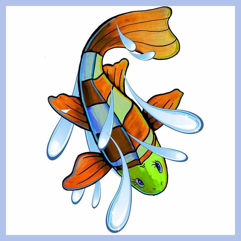 Orange Swimmer D 228 Nay Design