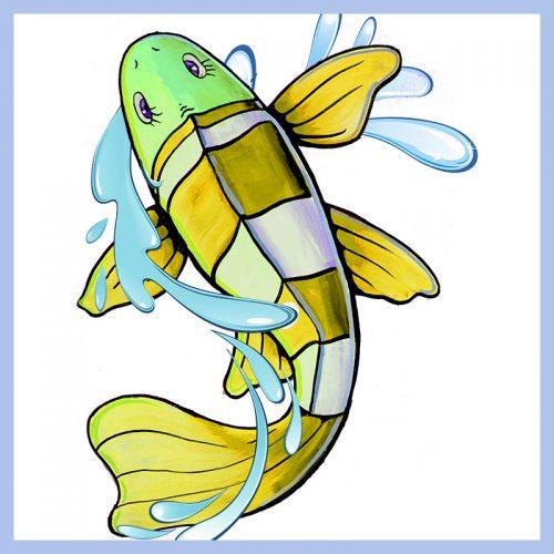 floor fish decal