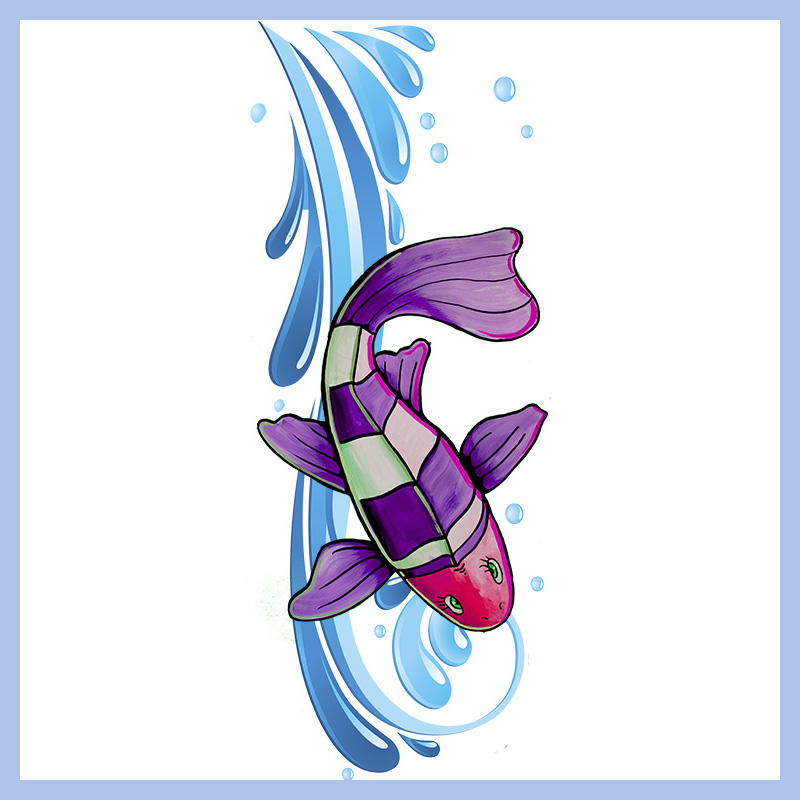 Purple Swimmer D 228 Nay Design