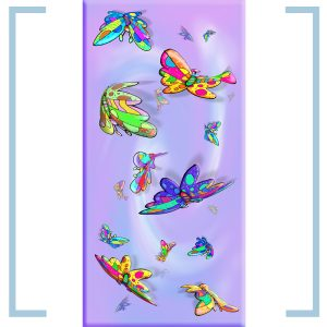 butterfly happiness light panel